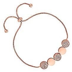 Jon Richard - Pave disc toggle bracelet
