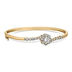 Jon Richard - Cubic zirconia flower bangle