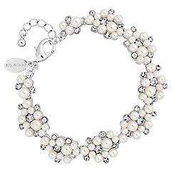 Alan Hannah Devoted - Designer pearl and crystal cluster bracelet