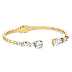 Alan Hannah Devoted - Designer crystal pear drop bangle