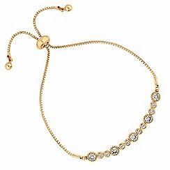 Jon Richard - Gold crystal multi circle toggle bracelet