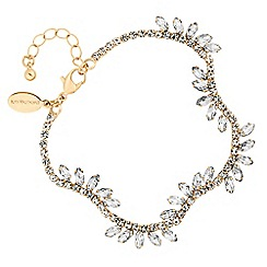 Jon Richard - Gold diamante crystal leaf bracelet