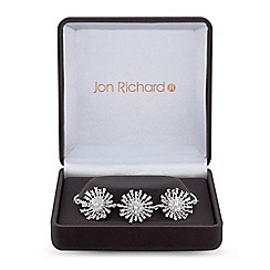 Jon Richard - Silver cubic zirconia star burst toggle bracelet