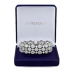 Jon Richard - Silver cubic zirconia halo cluster bracelet
