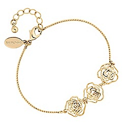 Jon Richard - Gold crystal open rose bracelet
