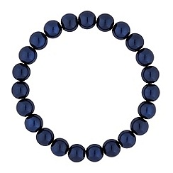 Jon Richard - Blue navy pearl stretch bracelet