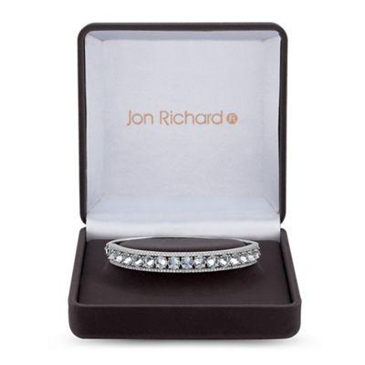 jon richard silver cubic zirconia pave surround bangle