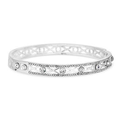 jon richard silver crystal filigree bangle