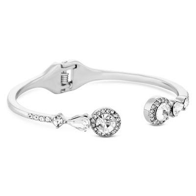 jon richard silver open crystal halo bangle