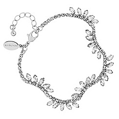 Jon Richard - Silver crystal diamante wave statement bracelet