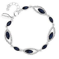Jon Richard - Silver blue crystal statement bracelet