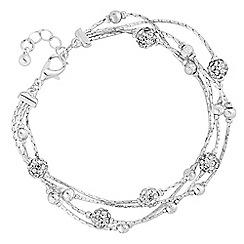 Jon Richard - Silver crystal orb bracelet