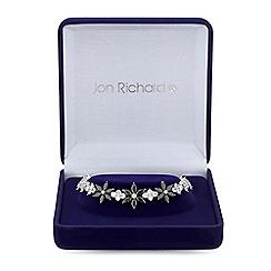 Jon Richard - Cubic Zirconia Black Crystal Flower Drop Bracelet