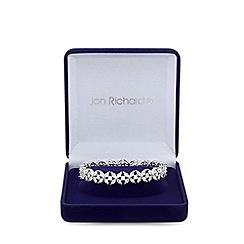 Jon Richard - Cubic zirconia floral crystal navette bangle