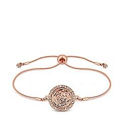 Jon Richard - Rose gold plated clear crystal pave toggle bracelet