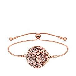 Jon Richard - Rose Gold Plated Clear Rocks Toggle Bracelet Embellished With Swarovski® Crystals