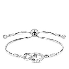 Jon Richard - Silver plated clear crystal polished toggle bracelet