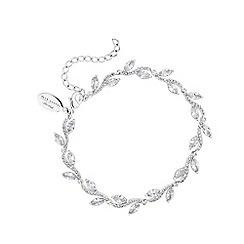 Alan Hannah Devoted - Silver Plated Pave Wave Leaf Bracelet