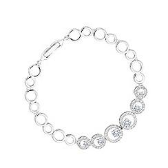 Jon Richard - Silver Plated Pave Circle Bracelet