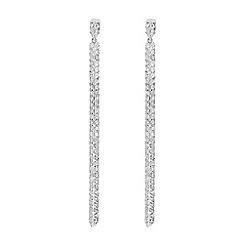 J by Jasper Conran - Designer sterling silver angular long earrings
