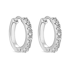 J By Jasper Conran Designer Sterling Silver Cubic Zirconia Mini Hoop Earrings