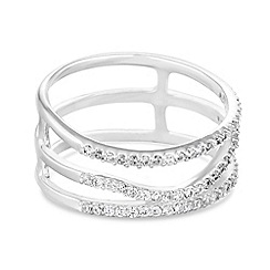 J by Jasper Conran - Designer sterling silver multi row ring