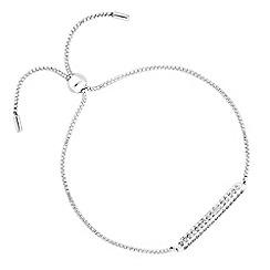 J by Jasper Conran - Designer sterling silver pave stick toggle bracelet