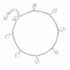 J by Jasper Conran - Designer sterling silver angular droplet bracelet