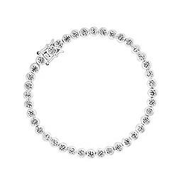J by Jasper Conran - Jasper Silver Cubic Zirconia Basel Set Line Bracelet