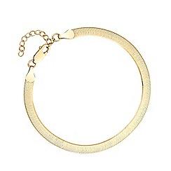 J by Jasper Conran - Sterling Silver 925 Yellow Gold Narrow Snake Bracelet