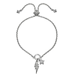 Karl Lagerfeld Lightening And Star Toggle Bracelet Created With Swarovski Crystals