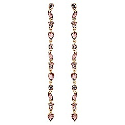 Lipsy - Pretty crystal drop linear earrings