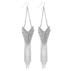 Lipsy - Crystal chain chandelier earrings