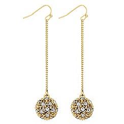 Lipsy - Pave crystal ball earrings