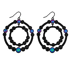 Lipsy - Rainbow crystal double circle earrings