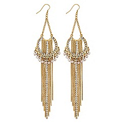 Lipsy - Layered chain drop earrings