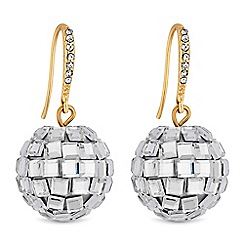 Lipsy - Mirror ball drop earrings