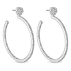 Lipsy - Crystal heart hoop earrings