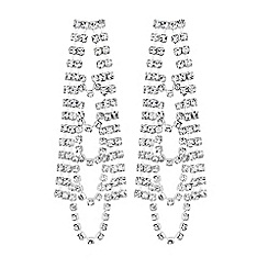 Lipsy - Crystal layered drop earrings