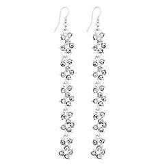 Lipsy - Crystal cluster drop earrings
