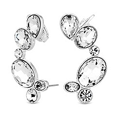 Lipsy - Crystal multi shape ear cuff set