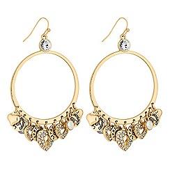 Lipsy - Heart charm hoop earrings