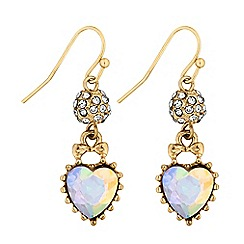 Lipsy - Heart charm drop earrings