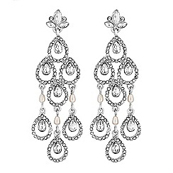 Lipsy - Crystal pear drop chandelier earrings