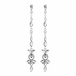 Lipsy - Crystal linear drop earrings