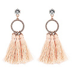 Lipsy - Pave hoop tassel earrings