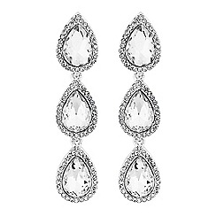 Lipsy - Linear crystal pear drop earrings