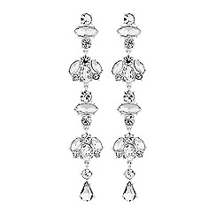 Lipsy - Crystal cluster drop earrings