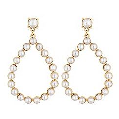 Lipsy - Pearl pear drop hoop earrings