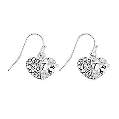 Lipsy - Crystal pave heart earrings